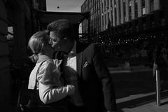 Street scenes (HKI DRFTR) Tags: lighting people urban blackandwhite finland helsinki kiss europe shadows streetphotography scene decisivemoment streetcompo streetoccasions