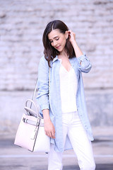 PinkReed5 (InSpadesBlog) Tags: fashion style blogger kennethcole frenchconnection ootd whitedenim croppedjeans reedkrakoff