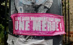 2016-05-31  Gar comme une merde (Harlem Shake) (Robert - Photo du Jour) Tags: rose sticker garage parking pluie voiture mai autocollant 2016 harlemshake aufildutemps garcommeunemerde