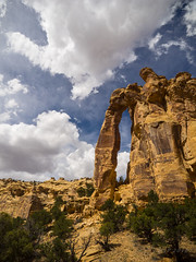 Eagle Canyon Arch 2 (xjblue) Tags: trip sky rock clouds landscape utah arch natural scenic canyon redrock sanrafaelswell span 2016 memorialdayweekend naturalarch
