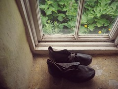 Old Shoes (Feldore) Tags: old ireland irish heritage vintage garden shoes sill olympus homestead northern windowsill mchugh em1 cultra brogues feldore