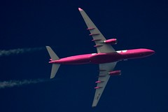 WOW Air Airbus A330 TF-GAY (stephenjones6) Tags: plane wow nikon contrail air airbus vapour a330 skywatcher d3200 tfgay