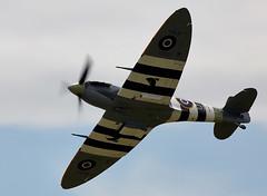 Spitfire (Bernie Condon) Tags: uk plane flying fighter display aircraft aviation military navy spit airshow ww2 spitfire raf warplane rn vickers battleofbritain royalnavy supermarine airday yeovilton bbmf rnas fightercommand hmsheron