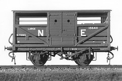 LNER cattle truck (1) (Garter Blue) Tags: blackandwhite scale truck model cattle olympus kit oo om2 00 parkside lner 4mmscale