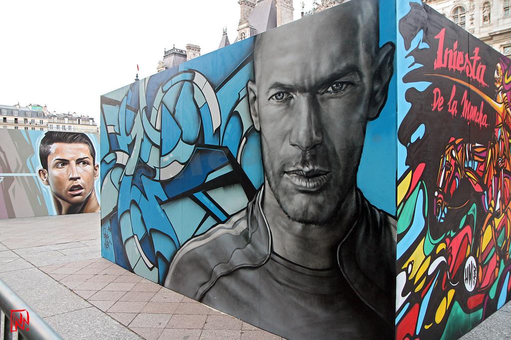 Zidane Par Alex Brok Et Ronaldo Par Belin Mamnic Millions