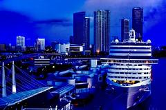 View of downtown Miami, Florida, U.S.A. @ dawn (Jorge Marco Molina) Tags: city usa cityscape florida miami cruiseship southflorida magiccity sunshinestate portofmiami miamidadecounty