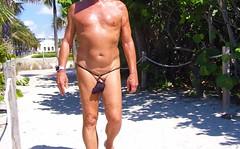 black strap baggie path (bmicro2000) Tags: man male beach public thong tiny gstring bungee baggie minimalswimwear microkini microbeachwear
