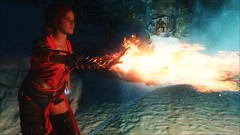 TESV - Flame-thrower Triss (tend2it) Tags: kenb elder scrolls skyrim v rpg game pc ps3 xbox screenshot sweetfx enb krista demonica race sg lilith 161 lady hair pack triss merigold