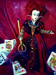 Queen of Hearts #3 (BlahBlair) Tags: red doll dolls disney queen wonderland aliceinwonderland waltdisney queenofhearts dollphotography redqueen underland alicethroughthelookingglass disneyalice offwiththehead throghthelookingglass