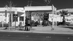 Last Chance (joeqc) Tags: park county street las vegas blackandwhite bw white black blancoynegro monochrome last mono lasvegas sony nevada fremont container nv clark chance greytones rx100 rx100ii rx100m2 rx100mii