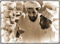 Omani Men at Livestock Sale in Nizwa Souq - Oman (stevebfotos) Tags: people souk oman nizwa