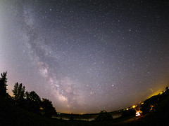 milky way over firebowl ((robcee)) Tags: summer sky canada night river stars fire lights newbrunswick moncton fireflies milkyway petitcodiac sagitarius 2016 antares firebowl camera:make=olympusimagingcorp exif:make=olympusimagingcorp exif:aperture=18 camera:model=em1 exif:model=em1 exif:isospeed=2000 exif:focallength=8mm exif:lens=olympusm8mmf18 scorupius