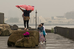 Posing ladies 1 (stevefge) Tags: binjiangforrestpark china shanghai yangze yangzie people candid ladies reflectyourworld