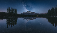 Perfect Reflection (Javier de la Torre Garca) Tags: two lake canada way jack rockies canadian via banff milky rocosas lactea px4u javierdltcom javierdltes photoexperience4u