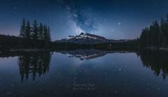 Perfect Reflection (Javier de la Torre García) Tags: two lake canada way jack rockies canadian via banff milky rocosas lactea px4u javierdltcom javierdltes photoexperience4u