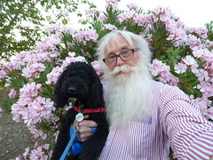 Selfie With Pascal (outdoorPDK) Tags: pascal oleander selfie