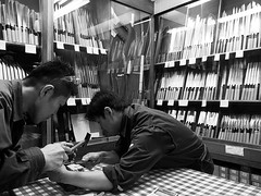 Tokyo 2015 (hunbille) Tags: morning fish japan shop tokyo market auction knife tsukiji knives fishmarket wholesale