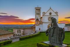 Basilica of San Francesco d'Assisi (okashyap) Tags: sanfrancescodassisi assisi italy basilica church evening sunset europe