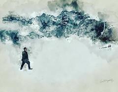 Witness of time. Glacier times. (HE~GOES) Tags: snow watercolor creative glacier mendenhallglacier acuarela dogsled witnessoftime instagram ifttt igworldclub jjsombre rsamystery pr0jectuno pr0jectsoul