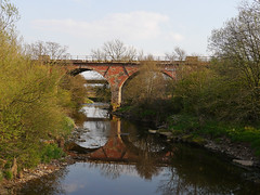 Railway Bridge over the Kirtle Water at Rigg near Gretna which carried the Glasgow and South Western Railway between Gretna and Dumfries (penlea1954) Tags: bridge water scotland glasgow south railway viaduct gretna western annan between dumfries galloway rigg kirtle