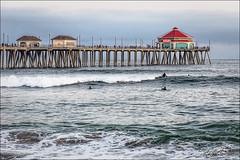 Huntington Beach (whalenmdw) Tags: beach pier nikon surf waves shorelines seascapes d70 shoreline surfing orangecounty huntingtonbeach cdm