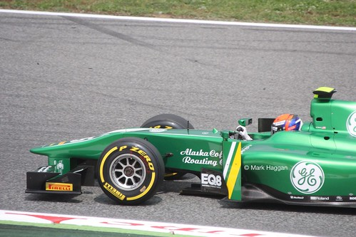 Alexander Rossi in GP2 at the 2013 Spanish Grand Prix