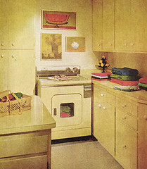 Creative Laundry (obsequies) Tags: home kitchen yellow vintage magazine ads scans colorful ad creative style 1966 retro laundry 1960s february decor spaces appliances betterhomesandgardens