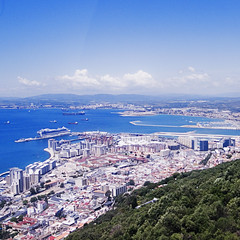 Looking down on Gib (FreakyLeo) Tags: city uk rock square town europe cityscape view britain gib united great kingdom gb gibraltar the gbr ricohgrd3
