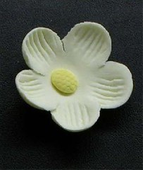 Small Blossom No wire Yellow 3cm (sweetinspirationsaustralia) Tags: cupcaketoppers
