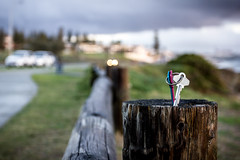 Keys To Nowhere (Photos By Dlee) Tags: wood pink blue storm rain clouds canon silver keys log colours post bokeh naturallight perth handheld cottesloe canonef1740mmf4lusm westernaustralia 550d bokehlicious t2i kissx4 photosbydlee photosbydlee13