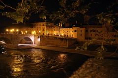 Mighty Tiber (Toni Kaarttinen) Tags: city italien bridge italy rome roma night dark stream italia roman trastevere nighttime tiber rom italie lazio romo italio