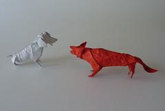 Lets get the bird (Origami hunting) Tags: origami paperfolding papiroflexia  plier  papierfalten papiervouwen dobraduradepapel pliagedupapier piegaturadellacarta papirfoldning kipuleyniyar