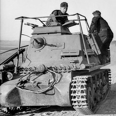 Befehlspanzer Command tank based on the Panzer I chassis. Notice the large frame radio antenna.
