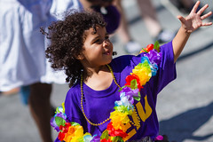 A Child's Reach (Fesapo) Tags: party portrait toronto ontario canada color colour festival youth festive happy rainbow colorful child hand purple little small young pride parade lei lgbt lgb reach colourful yonge gaypride humanrights bloor 135mmf2l lgbtq