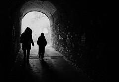 (...) Jsi sm. Co nejm gest. Nic na odiv. (mag Liliria) Tags: blackandwhite bw contrast darkness prague tunnel praha praga pretoebranco vyehrad
