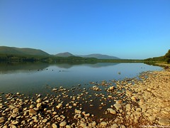Loch Morlich on a HOT summers morning (Rick Ellerman) Tags: blue sky rock 30 digital walking landscape scotland highlands scenery rocks view walk scenic picasa scottish hills more highland walker finepix stunning summit fujifilm hs cairngorm cairngorms bynack munro cairngormnationalpark bynackmore hs30 hs30exr