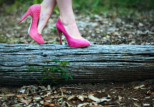 205/365 Pink shoes in the bush