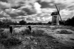 "'Bidston Hill Windmill"" (Mono Collection Wind Through the Sails) (Ray Mcbride Photography) Tags: windmill blackwhite birkenhead bidston slowexposures bidstonhill bidstonwindmill 10stopexposure"