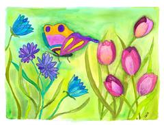 mastering twinks - whimsical garden (seelenschimmer) Tags: painting whimsy handmade drawing whimsical twinks whimsicalart whimsyart diondior masteringtwinks