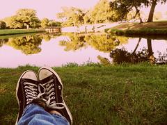 Converse (gabii_benally) Tags: park lake love nature cool pond nikon chucks converese