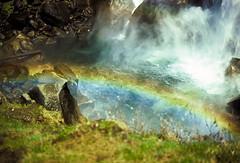 photo - Rainbow, Vernal Fall 1970s (Jassy-50) Tags: california water photo nationalpark rainbow unesco lookdown waterfalls yosemite yosemitenationalpark worldheritage whs vernalfall