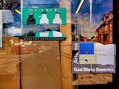 no meu bairro #3... (bruce grant) Tags: reflexos cartazes mercearia rasgados