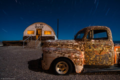 Spin Cycle (dejavue.us) Tags: california longexposure nightphotography lightpainting abandoned truck nikon desert pickup fullmoon nikkor laundromat startrails mojavedesert d800 1835mmf3545d vle