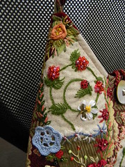 Crazy Qult Bag (Allochka2012) Tags: flower butterfly bag beads jean handmade lace embroidery sewing brooch crochet purse owl quilting button denim ribbon corduroy shoulderbag ribbonembroidery crazyqult