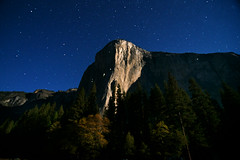 Moonlight on El Capitan (gcquinn) Tags: california park moon night nationalpark geoff yosemite quinn mountaineering moonlight geoffrey elcapitan mountaineer 1gq6208a