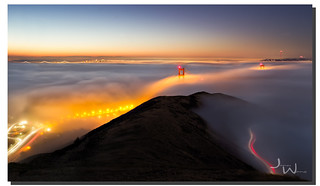 Above cloud 9, Golden Gate Bridge, San Francisco, CA
