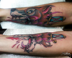 Traditional! (sderenato_tattoo) Tags: color tattoo traditional best colored colori renato sde vivoli