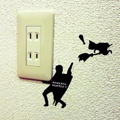 在家老是看到狩獵的幻覺?是魔物獵人貼紙啦!