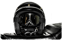 Bikers Helmet, half face, Black. (CWhatPhotos) Tags: pictures black face canon that lens photography eos foto image artistic zoom pics seat helmet goggles picture pic images have photographs photograph fotos 7d half motorcycle which 1740mm contain lseries cwhatphotos