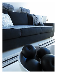 a Striped wool rug.. (Jaana H-N) Tags: blackandwhite home modern carpet lamb rug decor interiordesign annocollection vision:outdoor=0676 vision:car=0597 annotalvi